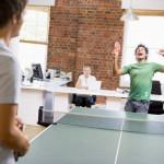 Tischtennis als Ausgleich zum Bürojob?